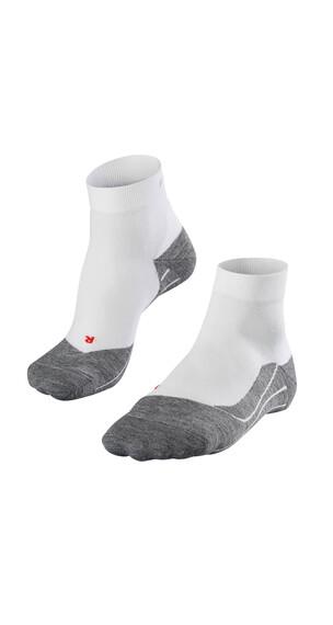 Falke RU 4 - Chaussettes course à pied - gris/blanc